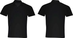 Camisa do polo t Vista dianteira e traseira Fotografia de Stock