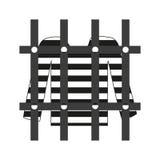 Camisa do prisioneiro no ícone do grayscale da prisão Fotografia de Stock