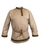 A camisa dos homens, linho no estilo dos povos do russo Fotografia de Stock