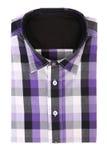 A camisa dos homens ocasionais com um teste padrão verificado Imagem de Stock