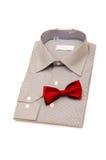 Camisa e d isolado laço imagem de stock royalty free