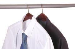 Camisa e revestimento do laço e do terno Imagens de Stock Royalty Free