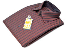 Camisa formal dos homens fotografia de stock