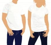Camisa Homens e mulheres da silhueta do corpo molde Imagens de Stock
