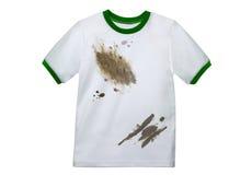 Camisa limpia sucia blanca aislada Fotos de archivo libres de regalías