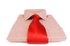 Camisa rayada roja fotografía de archivo