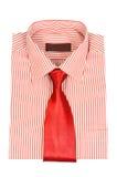 Camisa rayada roja fotos de archivo libres de regalías
