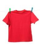 Camisa roja Imagen de archivo libre de regalías