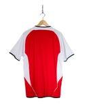Camisa roja del fútbol Imagen de archivo
