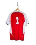 Camisa roja del fútbol Fotografía de archivo libre de regalías