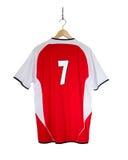 Camisa roja del fútbol Fotografía de archivo
