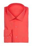 Camisa roja doblada Fotos de archivo libres de regalías