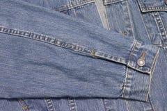 Camisa sem mangas do revestimento de Jean Fotos de Stock Royalty Free