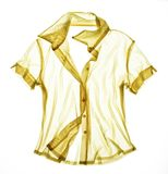 Camisa transparente amarilla Foto de archivo