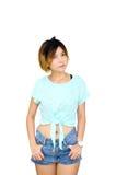 Camisa verde de las mujeres Fotos de archivo libres de regalías