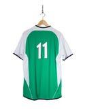 Camisa verde do futebol Fotos de Stock Royalty Free
