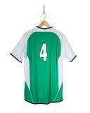 Camisa verde do futebol Fotos de Stock