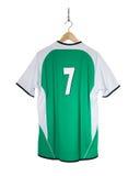 Camisa verde do futebol Imagem de Stock