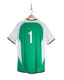 Camisa verde do futebol Imagem de Stock Royalty Free