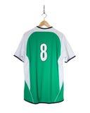 Camisa verde do futebol Fotografia de Stock Royalty Free