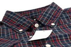 Camisa verific vermelha do teste padrão Imagens de Stock