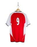 Camisa vermelha do futebol Imagens de Stock Royalty Free