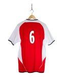 Camisa vermelha do futebol Imagem de Stock Royalty Free