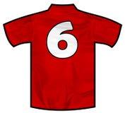 Camisa vermelha seis Imagem de Stock