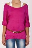Camisa y tapa con la correa Foto de archivo