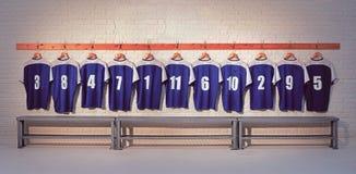 Camisas azules del fútbol Fotos de archivo libres de regalías