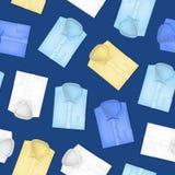 Camisas clásicas realistas 3d fijadas Vector inconsútil del fondo del modelo libre illustration