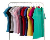 Camisas coloreadas Imágenes de archivo libres de regalías