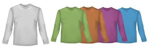 Camisas coloreadas con las fundas largas. Foto de archivo