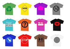 Camisas con las muestras Foto de archivo