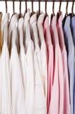 Camisas de alineada Imagen de archivo libre de regalías