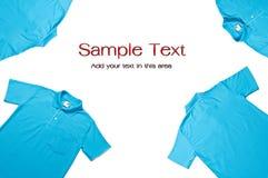 Camisas de polo azules del color Imágenes de archivo libres de regalías