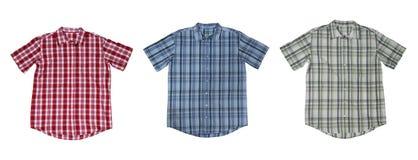 Camisas de tela escocesa Imagen de archivo libre de regalías