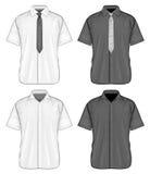 Camisas de vestir cortas de la manga Imagen de archivo libre de regalías