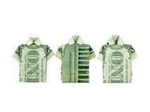 Camisas del dinero foto de archivo
