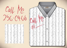 Camisas del diseño con el lápiz labial de la inscripción ilustración del vector