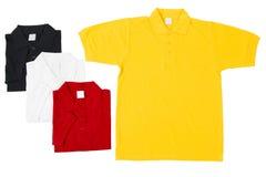 Camisas dispuestas coloridas del golf Fotos de archivo