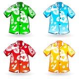 Camisas do Hawaiian Aloha. Ilustração do vetor Imagem de Stock Royalty Free