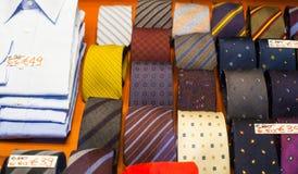 Camisas e gravatas Fotografia de Stock Royalty Free