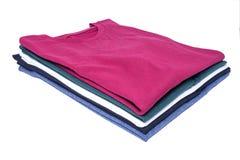 Camisas empilhadas Imagens de Stock Royalty Free
