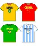 Camisas gráficas de t com nacional Imagens de Stock Royalty Free