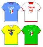 Camisas gráficas de t com nacional Foto de Stock