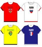 Camisas gráficas de t com nacional ilustração stock