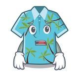 Camisas hawaianas asustadas dobladas en armario de la historieta ilustración del vector
