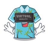 Camisas hawaianas de la realidad virtual dobladas en armario de la historieta ilustración del vector