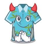 Camisas hawaianas del diablo dobladas en armario de la historieta stock de ilustración